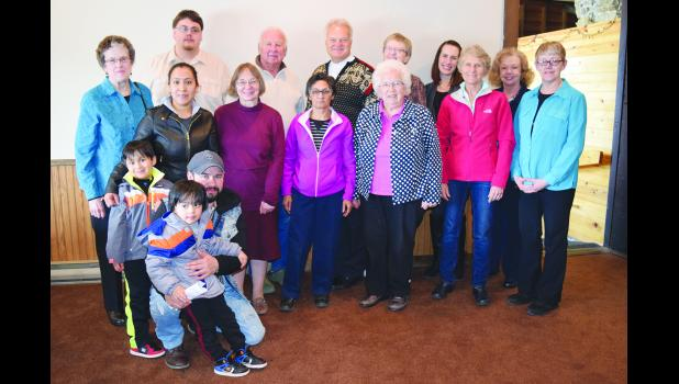 The Buffalo Pepin Literacy Alliance (BPLA) hosted Annual Recognition Luncheon on Friday, March 31. Above, in front, are Thomas, Liam, and Miguel Hernandez. In the second row are Luisa Tepole, Linda Schaub, Luz Oritz, Janette Ruff, Barb Wright, and Rita Mango. And, in the third row, are Carol Bauer, David Opell, Pete Adler, Yata Peinovich, Karen Ruppert, Michelle Zagozen, and Suzanne Ebersold. Laura Berndt photo