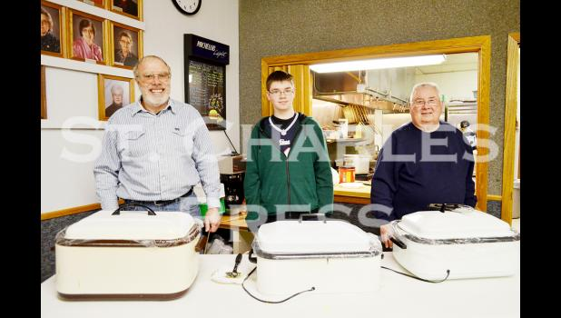 Ralph, Michael and Paul serve breakfast at the Eyota American Legion on Sunday, January 18th.