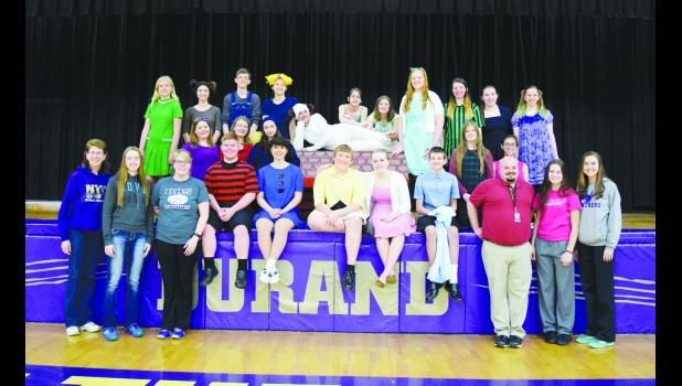 """Above is the cast and crew of """"You're a Good Man, Charlie Brown."""" Laura Berndt photo"""