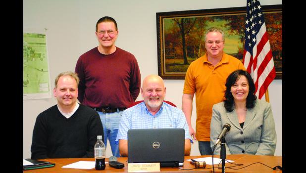 Councilman Rupprecht, Councilman Harrison, Councilman Sannes, Mayor Sommer, Councilwoman Trester.   Photo by Carol Boynton