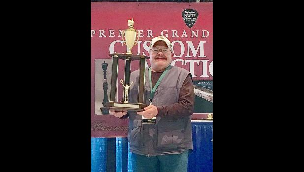 Dave Constantine, of Durand, recently won the National Wild Turkey Federation's (NWTF) National Custom Call Championship for the tenth time. Submitted photo