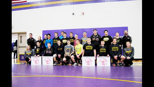 The Durand wrestling team earned the title of WIAA Team Regional Champions for the first time in school history. The event was held at Durand High School on Saturday, February 11. Laura Berndt photo