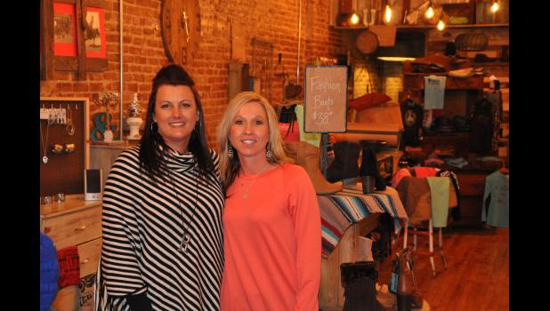 CrawRu's Clothing & More co-owners Michelle Rud (left) and Tanya Crawford opened their boutique clothing and western wear store in Mondovi last month, refurbishing an empty storefront at 129 S. Eau Claire St. The pair first started their business in March, providing a local option for rodeo competition gear.