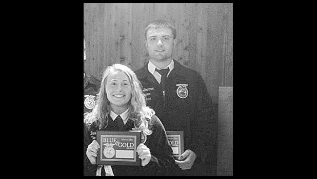 Danielle Chilson and Travis Brantner, of the Durand FFA Chapter, received the Wisconsin State FFA Degree June 17 in Madison.