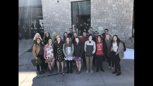 A large group of Eleva-Strum Central High School students took their National History Day projects on the road to UW-Eau Claire for the regional competition on March 8. Nearly half of this E-S student group qualified for next month's state competition while four more were named alternates.