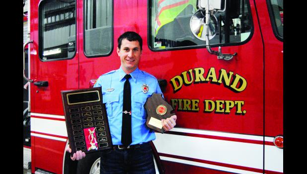 The Durand Fire Department has named Larry Plumer as the 2016 Firefighter of the Year.  Laura Berndt photo
