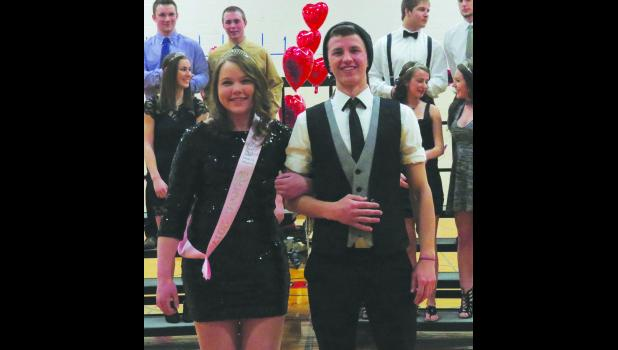 Senior Snoball Royalty Ashley Tews and Alex Brown