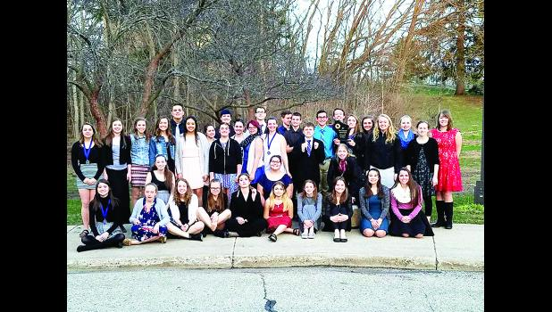 The Durand High School Forensics team recently finished another successful season. Above is the state DHS Forensics team. Submitted photo