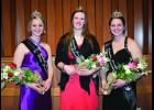 Abigail Holst (right) and Natalie  Holst (left) of rural Kellogg will be representing the Wabasha County dairy industry.  New to the program this year is a Jr. Princess (center) who is Rachel Fick of Lake City and will also be a representative of the dairy industry.  Natalie and Abigail both attend Plainview-Elgin-Millville High School.   Photo by Cheryl Nymann