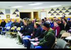 Well over 70 people were in attendance at the community informational meeting at the Millville Legion regarding the schools $18 million bond referendum coming up for a vote in just over a month - May 24th.  Some information was presented, then a question answer session.  There were some great questions being asked.  Photo by Cheryl Nymann