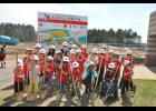 Youth representatives from grades PK-5 posed for a photo during the groundbreaking. The ongoing construction project, set to be complete by December, will unite all E-S elementary students in one building at the E-S Central High School campus.