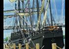 """The 'Pinta' and the 'Nina' replicas of Christopher Columbus' ships, arrived in Winona on Tuesday, June 28th.  The 'Nina' and 'Pinta' remained docked at the Levee Park, 65 East Front Street, until their departure on Wednesday, July 6th.   """"The Nina is the most historically accurate replica ever created,"""" said Pinta's 1st Mate. """"And the Pinta comes in a close second, but she's a little bit larger than she originally would've been by about 20 percent."""" Photos by Carol Boynton"""