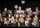 """Members of the Concert Choir, as directed by Stephanie Nolting, sing """"Nutcracker Jingles"""" during the Winter Choral Concert held on Monday, December 8th at St. Charles Elementary School."""