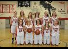 Members of the 2014-15 Gilmanton High School varsity girls basketball team include, front, left to right, Jordyn Bloom, Morgan Bork, Lexie Severson, Makayla Saul, Bryanna Reidt; back, Gabrielle Saul, Morgan Fillmore, Hailey Bork, Johanna Wulff, Julia Branger, Rachel Hovey. Not pictured—Paige Lieberman.