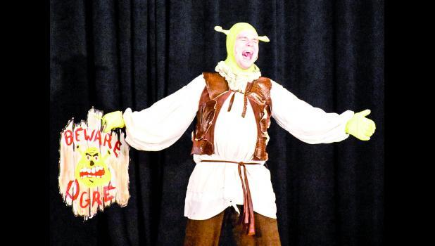 Elijah Hager as Shrek.